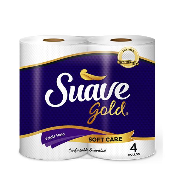 Suave Gold Triple Hoja 270H X4